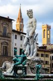 Fountain of Neptune at sunset, Florence, Italy Stock Photo