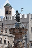 Fountain of Neptune, Trento Stock Photos