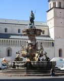 Fountain of Neptune. In Trento, Italy Stock Photos