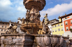 Fountain of Neptune - Trento Trentino Italy Stock Photo