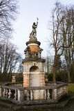 Fountain with Neptune and Tritons statues, Konopiste, Benesov, Czech Republic. Baroque fountain with ruler of sea Neptune and Tritons statues near Konopiste Royalty Free Stock Photos