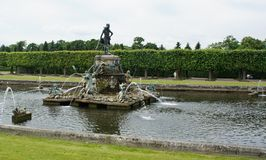 Fountain of Neptune. In the upper garden of Peterhof Royalty Free Stock Photos