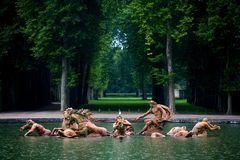 Fountain of Neptune at Versailles Palace in France Royalty Free Stock Image