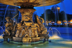 Fountain at Neues Schloss square, Stuttgart. Germany Royalty Free Stock Photos