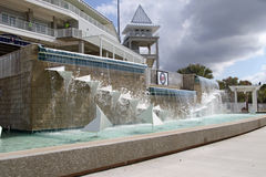 The Fountain at the New Entrance to Hammond Stadium royalty free stock photography