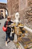 Fountain next to Santi Vito church Stock Image