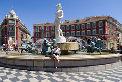 Fountain of Nice, France Stock Photo
