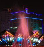 Fountain in night Royalty Free Stock Image