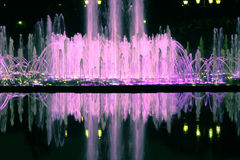 Fountain at night. Fountain in moscower garden at night Royalty Free Stock Photo