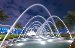 Fountain at night Stock Photo