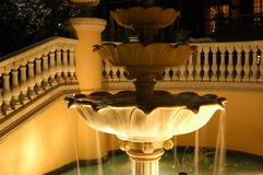 Fountain at night. A water fountain at night Stock Photo