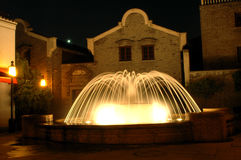 Fountain by night Stock Photos