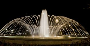 Fountain at night Stock Photography