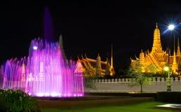 Fountain at Night. Atmosphere the bangkok in night Stock Photos