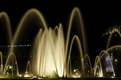 Fountain at night in Barcelona, ​​Spain Stock Photo