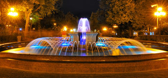 Fountain at night Stock Photos