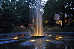 Fountain at night Stock Image