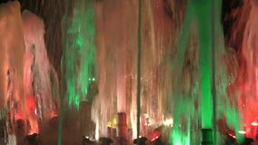 Fountain at night stock video footage