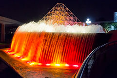 Fountain lights night Stock Photos