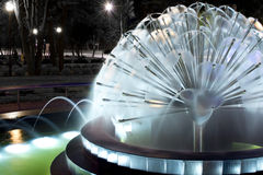 Fountain at Night. In Lodz Stock Photos