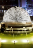Fountain at Night. In Lodz Royalty Free Stock Image