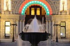 Fountain night scene Royalty Free Stock Photography