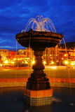 Fountain night scene Royalty Free Stock Photo