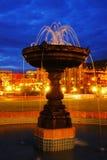 fountain night scene Στοκ φωτογραφία με δικαίωμα ελεύθερης χρήσης