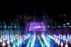 Fountain at Night in Series Royalty Free Stock Photos