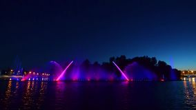 Fountain night show stock video footage
