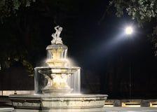 Fountain at night. Stock Photos