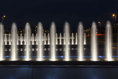 Fountain in the night Royalty Free Stock Photos