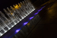 Fountain in the night Stock Image