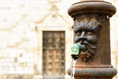 Fountain in Norcia, Italy Royalty Free Stock Photography