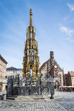 Fountain in Nuremberg Royalty Free Stock Photography