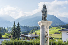 Fountain in Oberperfuss village, Austria. Royalty Free Stock Image