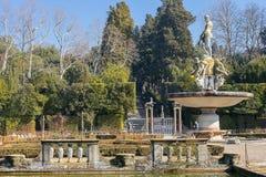 Fountain Ocean by Giambologna in Boboli Gardens, Florence Stock Image