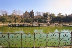Fountain Ocean by Giambologna in Boboli Gardens, Florence Royalty Free Stock Photography