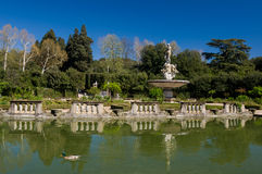 Fountain of Ocean in Island Fountain, Boboli Gardens, Florence Stock Images
