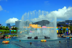 Fountain at ocean park hong kong Royalty Free Stock Photo
