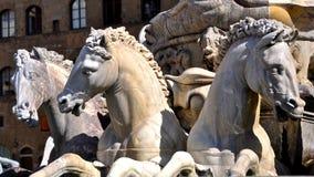 Fountain Of Neptune Horses Royalty Free Stock Image