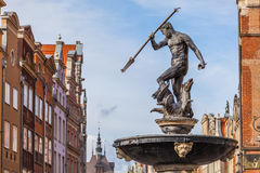 Fountain Of Neptune - The Old Town In Gdansk, Poland Royalty Free Stock Images