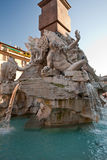 Fountain Of The Four Rivers, Fragment Royalty Free Stock Photos