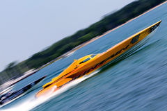 Fountain Off-Shore Racing Boat Stock Images