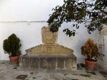 Fountain old-Alhama de Granada Stock Photo