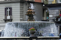Fountain in old Naples Royalty Free Stock Photos