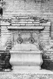 Fountain. Old ornamental fountain in grayscale Royalty Free Stock Image
