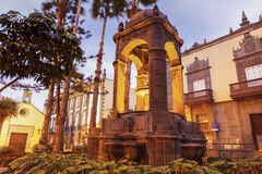 Fountain in old town of Las Palmas. Gran Canaria, Canary Islands, Spain stock photography