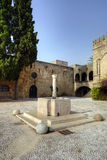 Fountain in the old town of Rhodes, Greece. Stock Images