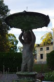 Fountain. In the old villa in Sweden Royalty Free Stock Photo